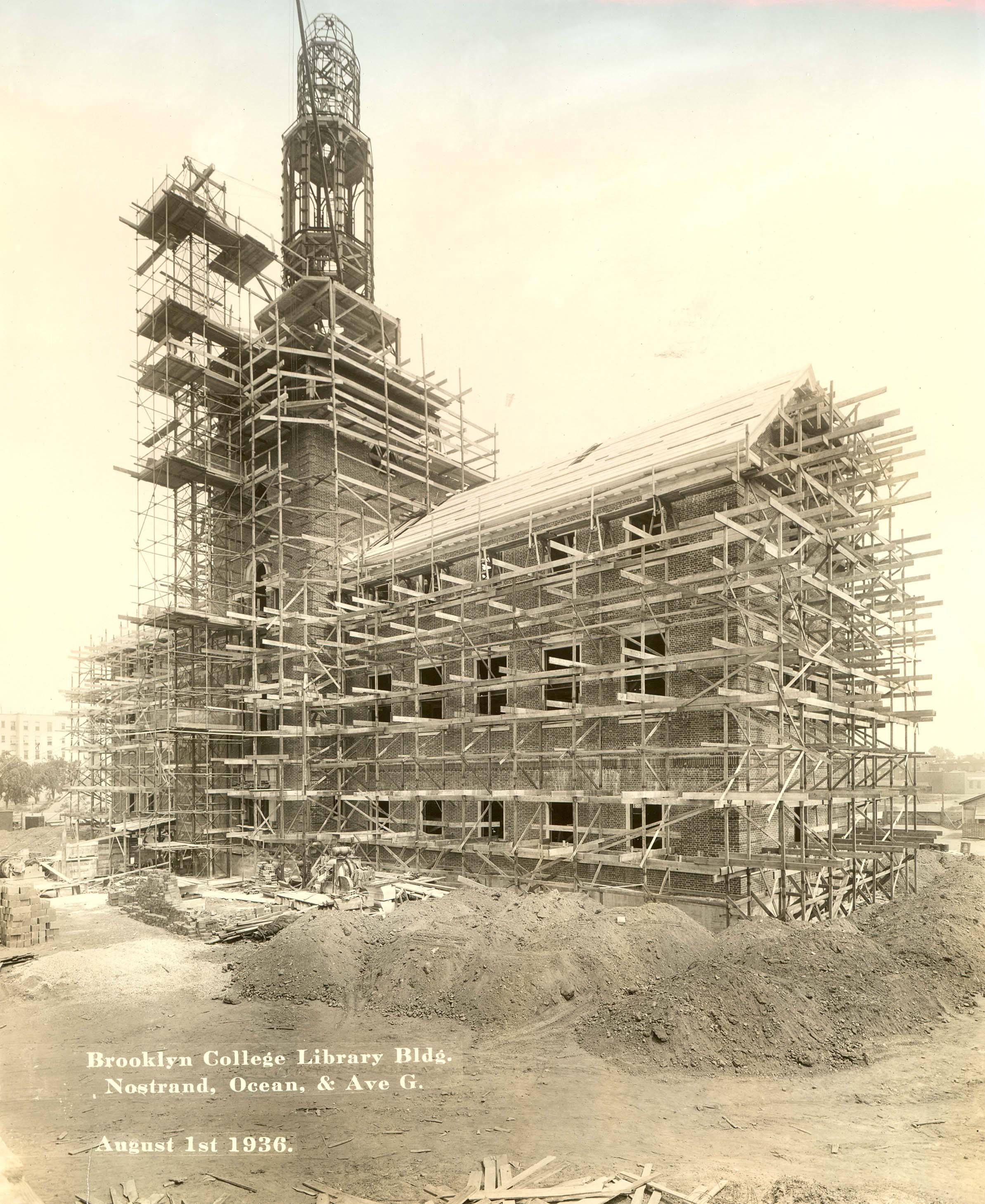 Construction of LaGuardia Hall